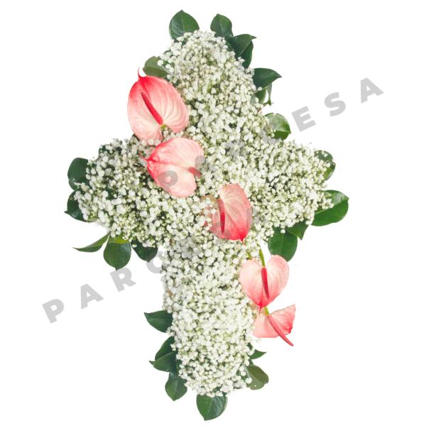 Cruz de paniculata y anthurium | TIENDA PARCESA