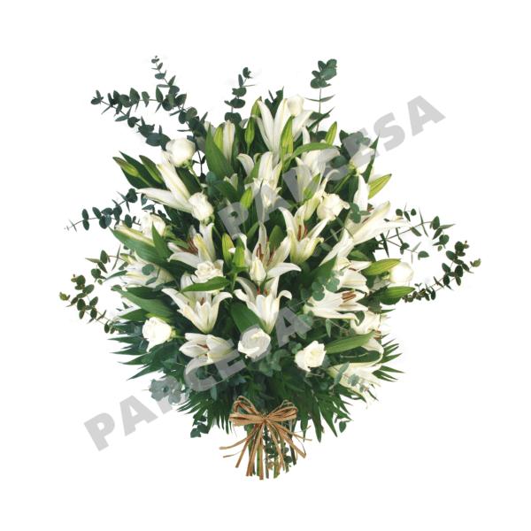 Ramo de rosas y lilium blancos | TIENDA PARCESA